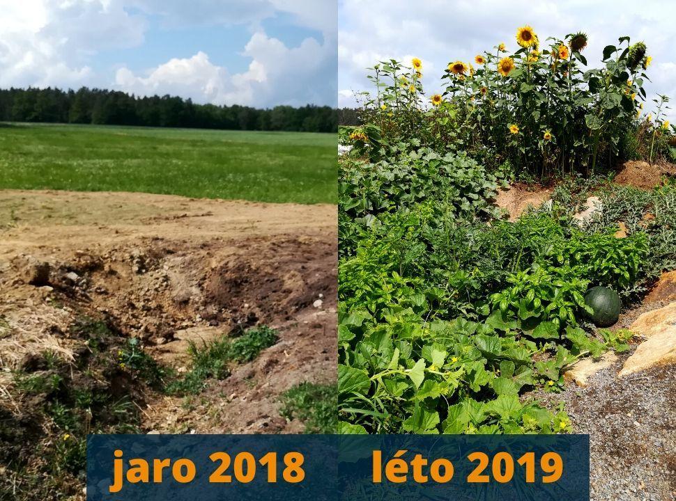 Porovnání zahrady před apo